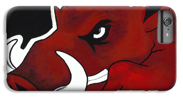 University Of Arkansas iPhone 6s Plus Case - Modern Hog by Jon Cotroneo