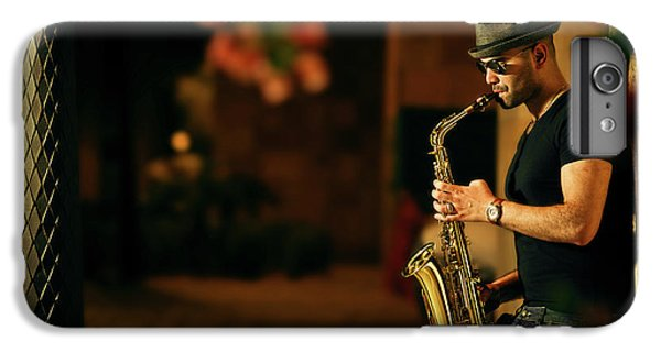 Saxophone iPhone 6s Plus Case - Mood With Jazz by Kzh