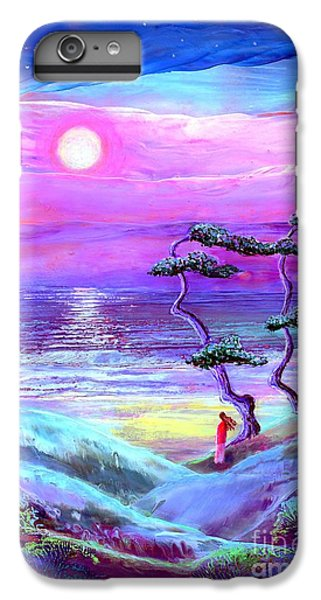 Impressionism iPhone 6s Plus Case - Moon Pathway,seascape by Jane Small
