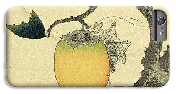 Grasshopper iPhone 6s Plus Case - Moon Persimmon And Grasshopper by Katsushika Hokusai
