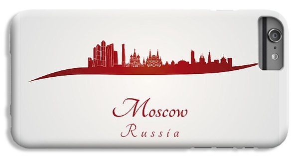Moscow Skyline In Red IPhone 6s Plus Case by Pablo Romero