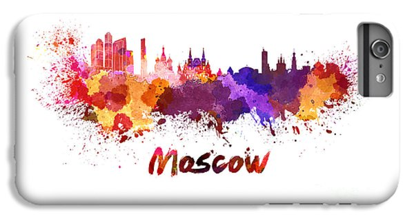 Moscow Skyline In Watercolor IPhone 6s Plus Case by Pablo Romero