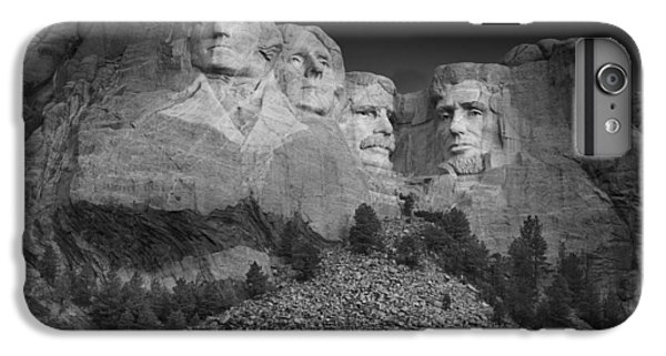 Mount Rushmore South Dakota Dawn  B W IPhone 6s Plus Case by Steve Gadomski