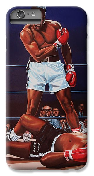 Muhammad Ali Versus Sonny Liston IPhone 6s Plus Case by Paul Meijering