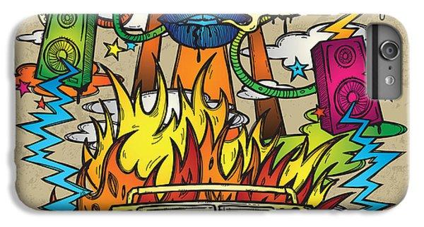 Explosion iPhone 6s Plus Case - Music Background. Stylish Grunge by Igorijart