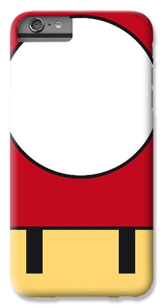 Mushroom iPhone 6s Plus Case - My Mariobros Fig 05a Minimal Poster by Chungkong Art