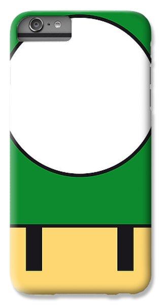 Mushroom iPhone 6s Plus Case - My Mariobros Fig 05b Minimal Poster by Chungkong Art