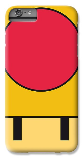 Mushroom iPhone 6s Plus Case - My Mariobros Fig 05c Minimal Poster by Chungkong Art