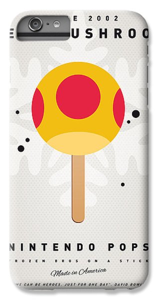 Mushroom iPhone 6s Plus Case - My Nintendo Ice Pop - Mega Mushroom by Chungkong Art