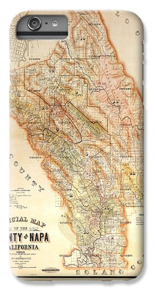 Napa Valley Map 1895 IPhone 6s Plus Case