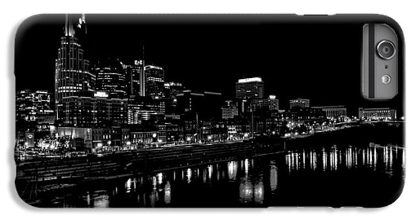 Nashville Skyline At Night In Black And White IPhone 6s Plus Case by Dan Sproul