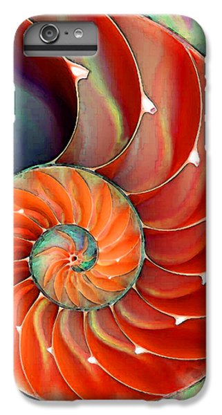 Bass iPhone 6s Plus Case - Nautilus Shell - Nature's Perfection by Sharon Cummings