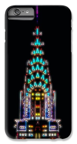 Chrysler Building iPhone 6s Plus Case - Neon Spires by Az Jackson