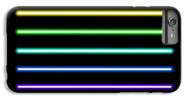 Bar iPhone 6s Plus Case - Neon Tube Light Pack Isolated On Black by Boxerx