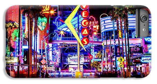 Eiffel Tower iPhone 6s Plus Case - Neon Vegas by Az Jackson