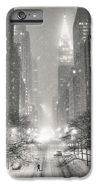 Times Square iPhone 6s Plus Case - New York City - Winter Night Overlooking The Chrysler Building by Vivienne Gucwa