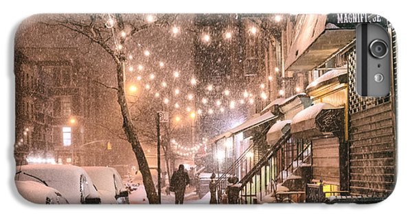 Times Square iPhone 6s Plus Case - New York City - Winter Snow Scene - East Village by Vivienne Gucwa