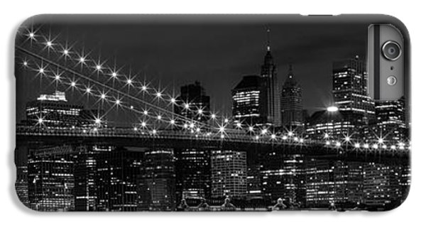 Night-skyline New York City Bw IPhone 6s Plus Case by Melanie Viola