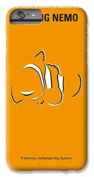Fish iPhone 6s Plus Case - No054 My Nemo Minimal Movie Poster by Chungkong Art
