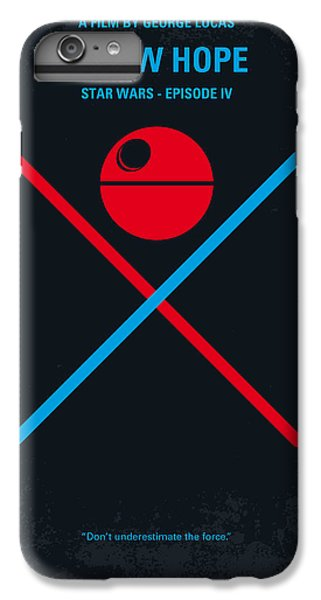 Star iPhone 6s Plus Case - No080 My Star Wars Iv Movie Poster by Chungkong Art