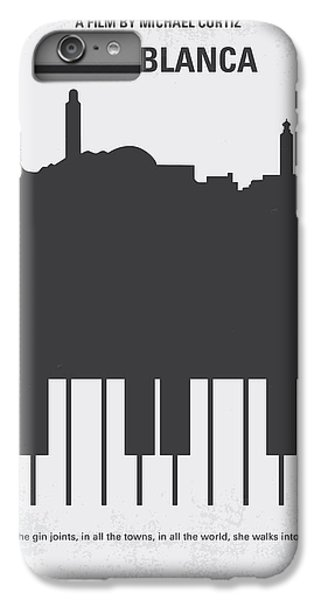 Los Angeles iPhone 6s Plus Case - No192 My Casablanca Minimal Movie Poster by Chungkong Art