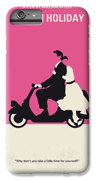 Audrey Hepburn iPhone 6s Plus Case - No205 My Roman Holiday Minimal Movie Poster by Chungkong Art