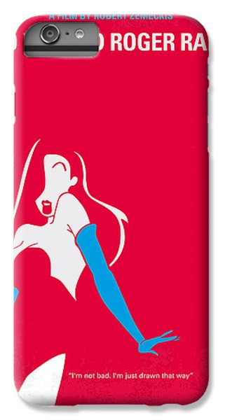 Rabbit iPhone 6s Plus Case - No271 My Roger Rabbit Minimal Movie Poster by Chungkong Art