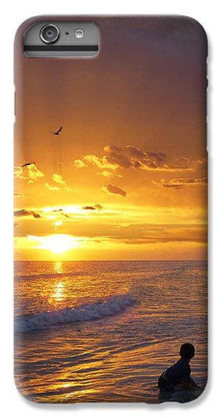 Ocean Sunset iPhone 6s Plus Case - Not Yet - Sunset Art By Sharon Cummings by Sharon Cummings