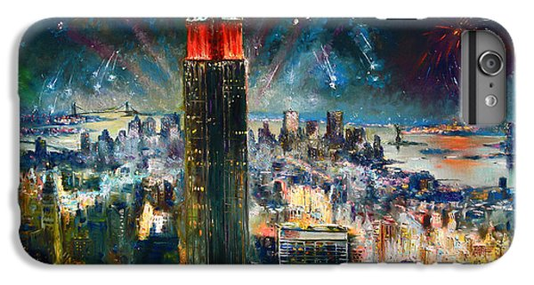 Times Square iPhone 6s Plus Case - Nyc In Fourth Of July Independence Day by Ylli Haruni