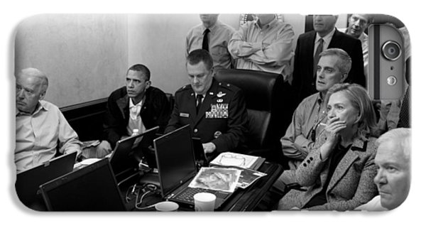 Hillary Clinton iPhone 6s Plus Case - Obama In White House Situation Room by War Is Hell Store