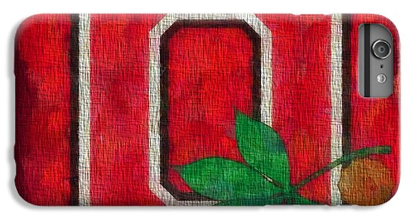 Ohio State Buckeyes On Canvas IPhone 6s Plus Case by Dan Sproul