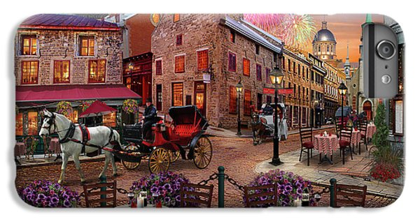 IPhone 6s Plus Case featuring the drawing Old Montreal by David M ( Maclean )