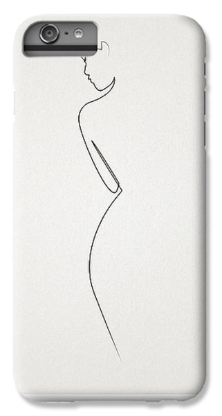 Abstract iPhone 6s Plus Case - One Line Nude by Quibe