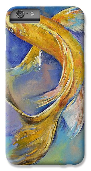 Orenji Butterfly Koi IPhone 6s Plus Case by Michael Creese