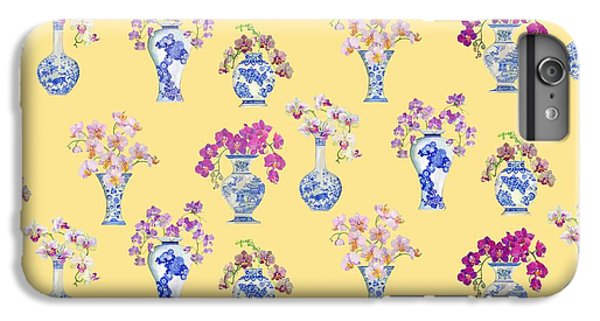 Oriental Vases With Orchids IPhone 6s Plus Case by Kimberly McSparran