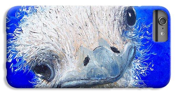 Ostrich Painting 'waldo' By Jan Matson IPhone 6s Plus Case by Jan Matson