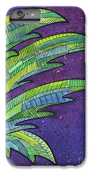 Palms Against The Night Sky IPhone 6s Plus Case by Diane Thornton