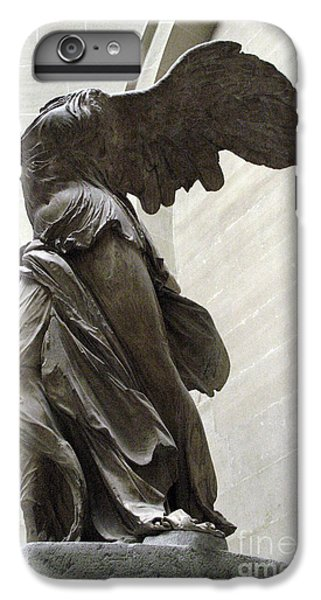 Louvre iPhone 6s Plus Case - Paris Angel Louvre Museum- Winged Victory Of Samothrace by Kathy Fornal