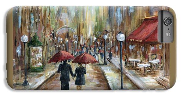Umbrella iPhone 6s Plus Case - Paris Lovers Ill by Marilyn Dunlap