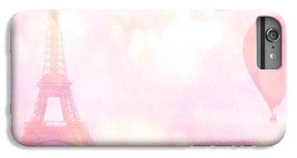 Hot iPhone 6s Plus Case - Paris Shabby Chic Romantic Dreamy Pink Eiffel Tower With Hot Air Balloon by Kathy Fornal