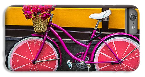 Bicycle iPhone 6s Plus Case - Pink Bike by Garry Gay