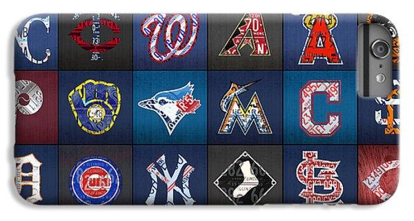 Diamondback iPhone 6s Plus Case - Play Ball Recycled Vintage Baseball Team Logo License Plate Art by Design Turnpike