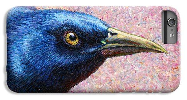 Blackbird iPhone 6s Plus Case - Portrait Of A Grackle by James W Johnson