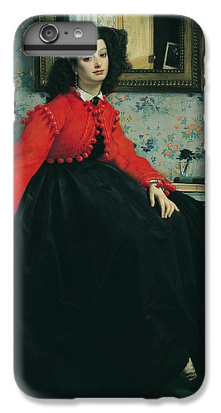 Scarlet iPhone 6s Plus Case - Young Lady In A Red Jacket by James Jacques Joseph Tissot