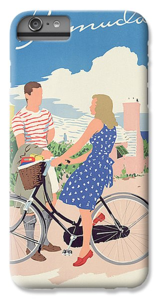 Bicycle iPhone 6s Plus Case - Poster Advertising Bermuda by Adolph Treidler