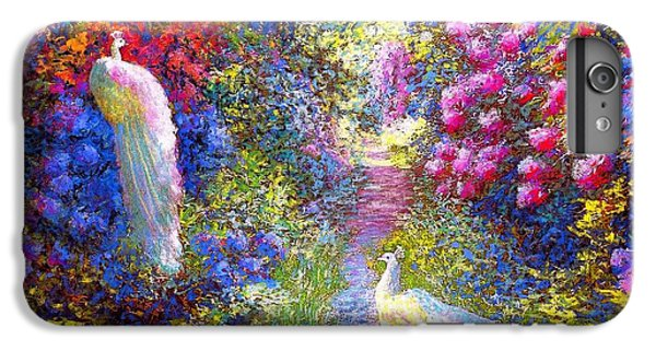 Impressionism iPhone 6s Plus Case -  White Peacocks, Pure Bliss by Jane Small