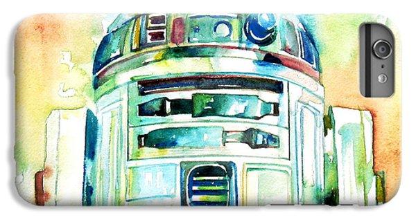 Star iPhone 6s Plus Case - R2-d2 Watercolor Portrait by Fabrizio Cassetta