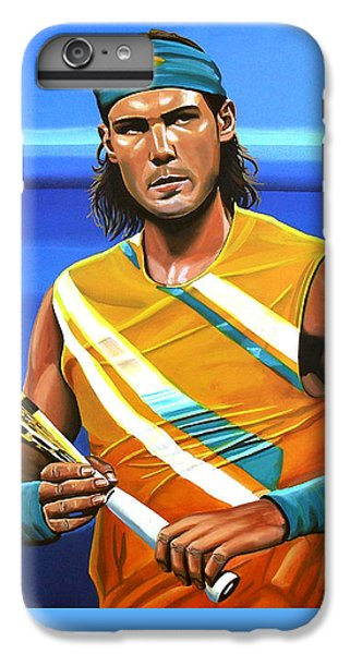 Rafael Nadal IPhone 6s Plus Case by Paul Meijering