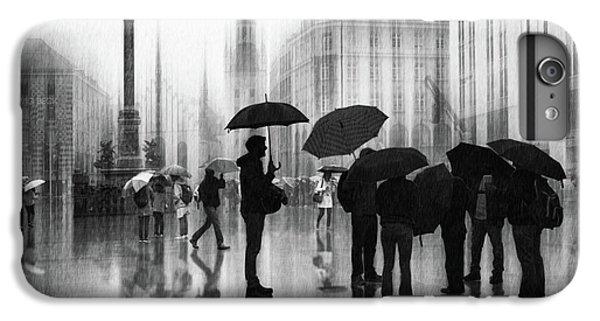 Umbrella iPhone 6s Plus Case - Rain In Munich by Roswitha Schleicher-schwarz