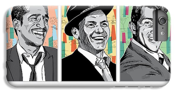 Rat Pack Pop Art IPhone 6s Plus Case by Jim Zahniser